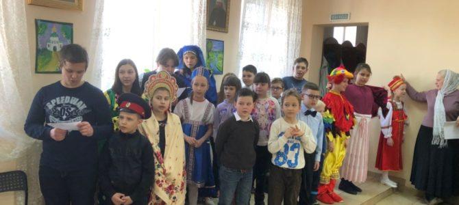 Праздник Масленицы состоялся для младшей и средней групп Воскресной школы
